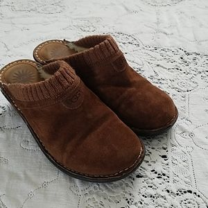 UGG brown mules
